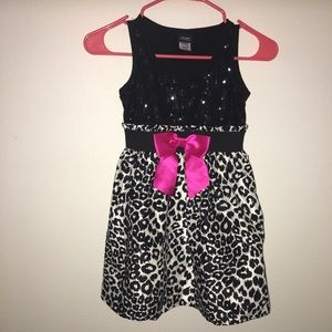 Holiday Day Editions Girls Sequin Leopard Dress